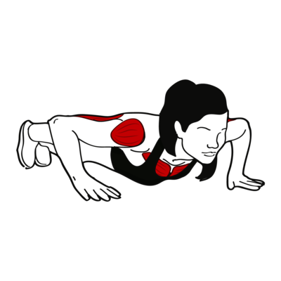 Liegestütz mit abgesenkter Schulter Übung - Richtige Ausführung