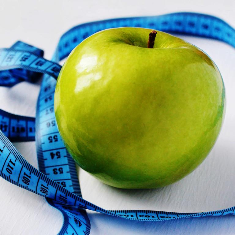 Ernährungspläne - Apfel mit Maßband