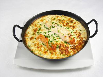Lachs mit Ofengemüse - warmes Gericht, Rezept
