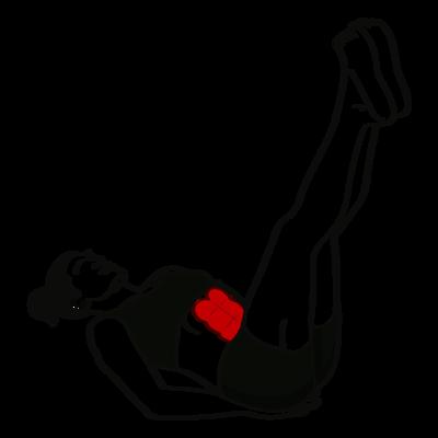 Beinheben senkrecht Übung - Richtige Ausführung