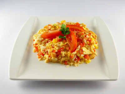 Gemüseomelette - warmes Gericht, Rezept