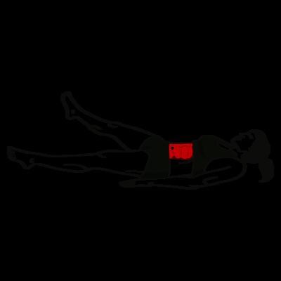 Gegrätschter Beinscherencrunch Übung - Richtige Ausführung