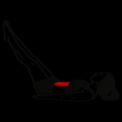 Beinheben im Liegen Übung - Richtige Ausführung