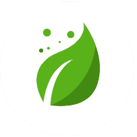 Grünes Blatt als Symbol für Ernährung